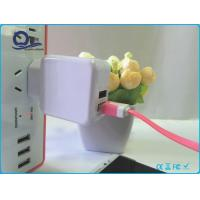 China 5V 2A Iphone USB Power Adapter Charger  , Double Port Iphone 4 / 5 USB Charger on sale