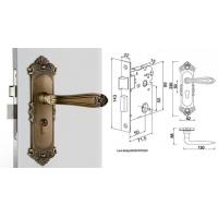 Buy High Hardness Room Mortise Door Lock Antique Bronze Zinc Alloy Entracne Handle at wholesale prices