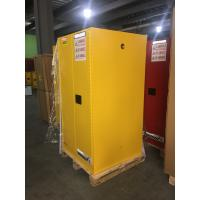 Quality Yellow Industrial Safety Cabinets , Flame Proof Storage Cabinets With Double Lock 60 galloncapacity for sale