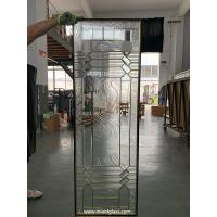 "Buy cheap No welding decorative glass panels with brass caming for door inserts 1"" from wholesalers"