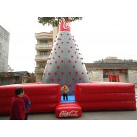 Quality Durable Inflatable Sports Games , Rock Climbing Game With Coca Cola Inflatable for sale