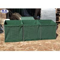 Buy cheap Green HDP Galvanized Military Hesco Barriers for Temporary Fortifications from wholesalers