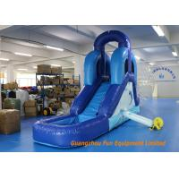 Quality CE UL Blue Commercial Inflatable Slide , Indoor Small Kids Water Slide for sale
