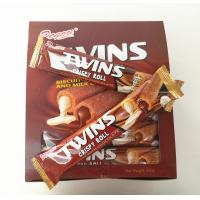 Quality Twins Crispy Roll Buscuits With Chocolate And Milk Center / Sandwich Biscuit for sale