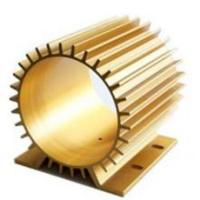 Quality Golden Anodizing Hollow Extrusion Heat Sink Round Flat Square for sale