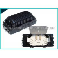 Quality 2 Round Ports Fiber Optic Splice Closure FTTH Drop Cable Type 24Pcs SC Adapter for sale