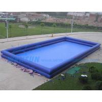 China Double Tyre Rectangular Inflatable Swimming Pool For Kids / Adults on sale