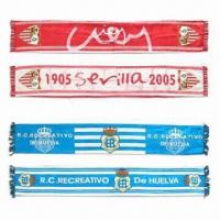 Quality Fan Scarves, Made of Satin Polyester for sale