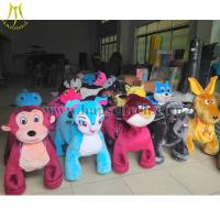Quality Hansel Mall Animal Rides animal kids-coin-operated stuffed animals with wheel mall ride for sale