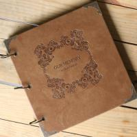 Quality Vintage PU Leather Hardcover Scrapbook Album  DIY Photo Album for sale