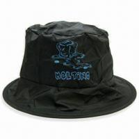 Quality Foldable Large Fisher Hat, Made of Polyester, with Silkscreen Printing Logo, Ideal for Gifts for sale