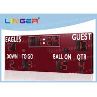 Quality American Type Electronice Digital LED Football Scoreboard in Red Color for sale