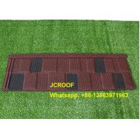 China Wine / Black And White Shingle Stone Coated Steel Roof Tile For Building Material on sale