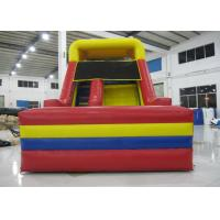 Quality Outdoor Games Commercial Inflatable Water Slides 0.55mm Pvc Tarpaulin 6 X 3.6m for sale