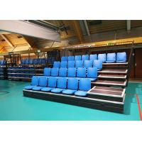 Telescopic Portable Aluminum Bleachers Anti Slip Polymer HDPE Seats