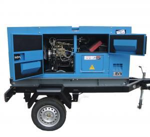 Buy cheap Cummins Diesel Engine Driven Generator , Silent Trailer Mobile Generator Set from wholesalers