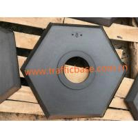 China Hot Sales 8lb Hexagon Black Recycled Rubber Base for Delineator Post, Traffic Safety on sale