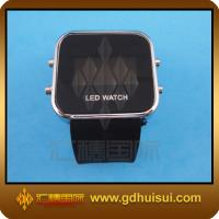 Quality black square silicone watches wholesale for sale