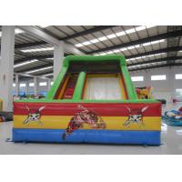 Quality Kindergarten Baby Commercial Inflatable Water Slides Rutsche Pirate Theme Colourful for sale
