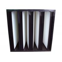 Buy Secondary V Cell Industrial Air Filters Fiberglass Air Filter With ABS Plastic at wholesale prices
