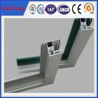 Quality Aluminium windows with mosquito net in china, frame for double glass aluminium windows for sale