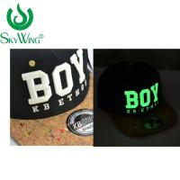 Buy cheap Adults Safety Flat Brim Golf Hats Ping 3D Glow In The Dark Embroidery from wholesalers