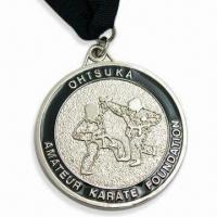 Quality Ohtsuka Medals with Silver Shine Medal and Black Ribbon for sale