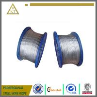 China Electric Galvanized Steel Wire Rope 1x7 steel cable steel wire cable on sale