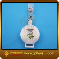 Quality round white color badge reel retractor for sale