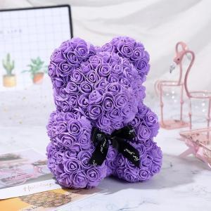 China 2020 Lovely Christmas Gift Rose Bears New Size 30cm Foam Roses Teddy Bear on sale