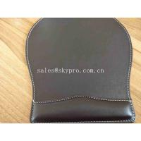 Quality OEM Customized Printing Office PU Leather Mouse Mat Fashion Computer Mouse Pad for sale