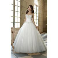 Quality NEW!!! Strapless white Ball gown wedding dress Beaded top Bridal gown #w647 for sale