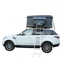 China 1-2people 4x4 Folding waterproof car roof tent with telescopic Pole for camping on sale