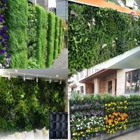 Quality Vertical Garden PE Fabric Reusable Hanging Flower Baskets For Vegetable / Flowers for sale