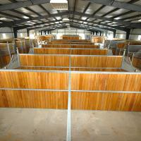 Quality Caballerizas High Density Horse Stall Fronts , Natural Bamboo Portable Horse Stalls for sale