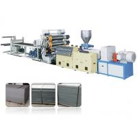 Quality Decorative Single Screw Plastic Extrusion Machine For PVC Faux Marble Board for sale