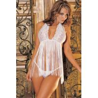 Buy cheap U.S. and European factory direct supply sexy lingerie large size XL special size sleepwear lace M,XL XQ5640white from wholesalers