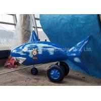 China Durable Life Size Shopping Centre Decorations Small Fiberglass Cartoon Shark on sale