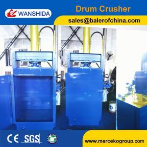 China Drum Compactor Waste Oil Drum Baling Press Baler Drum Crusher on sale