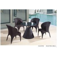 Quality modern pe rattan boite table chair outdoor furniture set for sale