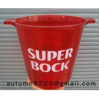 Quality red mini plastic clear ice bucket for sale