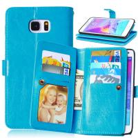 Buy Samsung Galaxy Note3 Note4 Note5 Wallet Case Retro Cover Bags Pouch 9 Cards Slot at wholesale prices