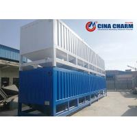 Quality Portable 50T Horizontal Fly Ash Cement Storage Silo , Steel Cement Silo for sale
