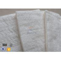Buy 25mm 1200℃ White Fiberglass Needle Mat High Silica Heat Insulation Blanket at wholesale prices