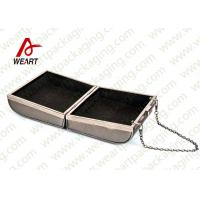 Quality Grey Cardboard Gift Contanier Customized Paper Box Flat Tape Rope for sale