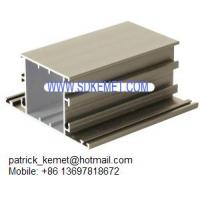 Quality anodized champagne aluminum extrusion profiles for windows and doors for sale