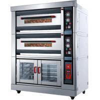 Quality Custom 3.7KW Deck Commercial Gas Pizza Oven Stainless Steel Material for sale
