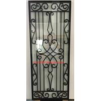 Quality cheap price wrought iron glass of 10*10 MM black steel bar for sale