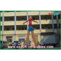 Quality Red Cartoon Advertising Air Dancers Printing Attractive 5m High For Supermarket for sale