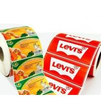 Quality OEM Glossy Food Product Sticker / Label Roll Waterproof With Logo Printing for sale